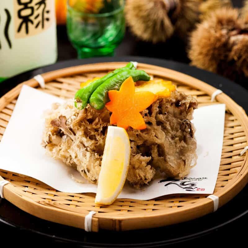 新潟雪国舞茸の天ぷら